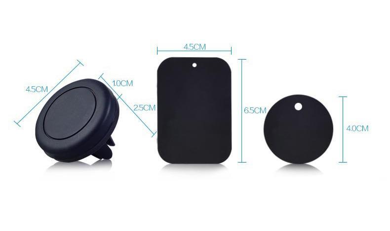 قوس مغناطيس عالمي المغناطيسي سيارة الهواء تنفيس حامل المخرج جبل ل iPhone7 6 / 6S حاملي الهاتف الخليوي سامسونج