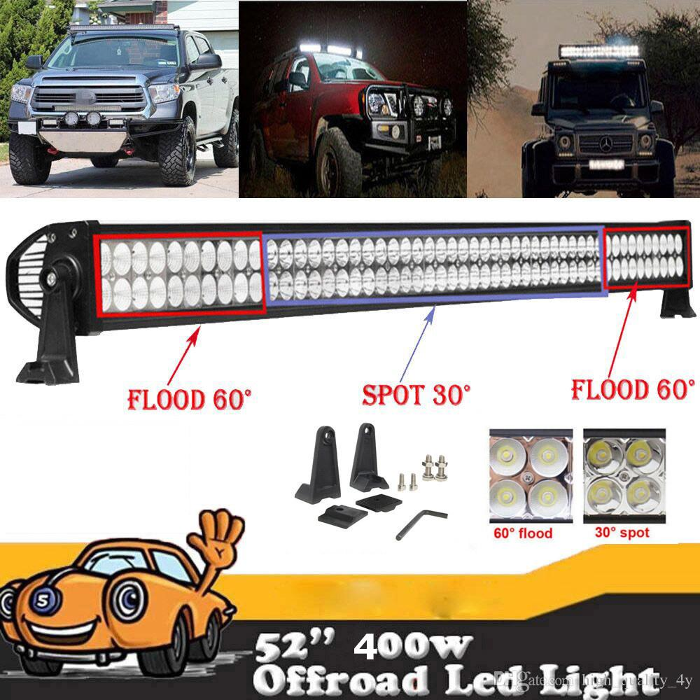 52 400w Led Light Bar Combo Beam Working For Offroad Truck Wiring A Trailer With Lights Jeep Boat 4x4 Atv Suv Utv 10 30v Auto Lamp Without Kit Leds