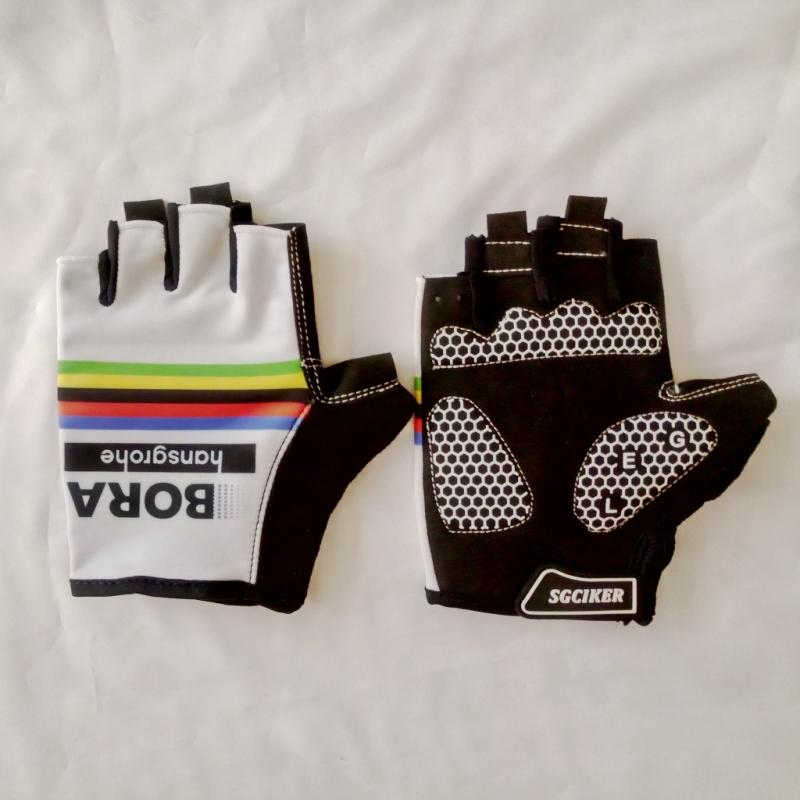 2017 Pro Team Bora Hansgrohe World Champion White Cycling Glove