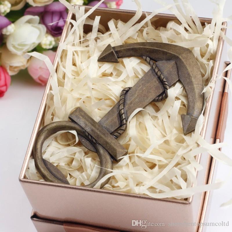 Nautique bateau ancre décapsuleur mariage fête douche faveurs cadeau présent