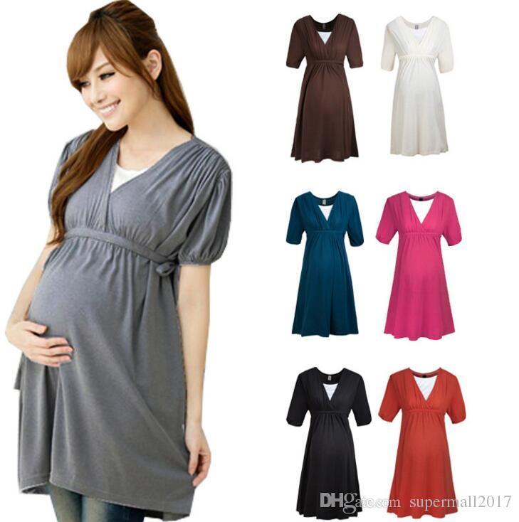 Abiti premaman moda Abiti maternità modali Abito infermieristico Abiti gravidanza in gravidanza donne incinte