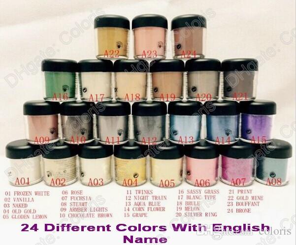 Maquillage Matte Pigment Lâche Pigments à paupières en vrac 7.5g Ombre à vis unique en vrac avec nom anglais
