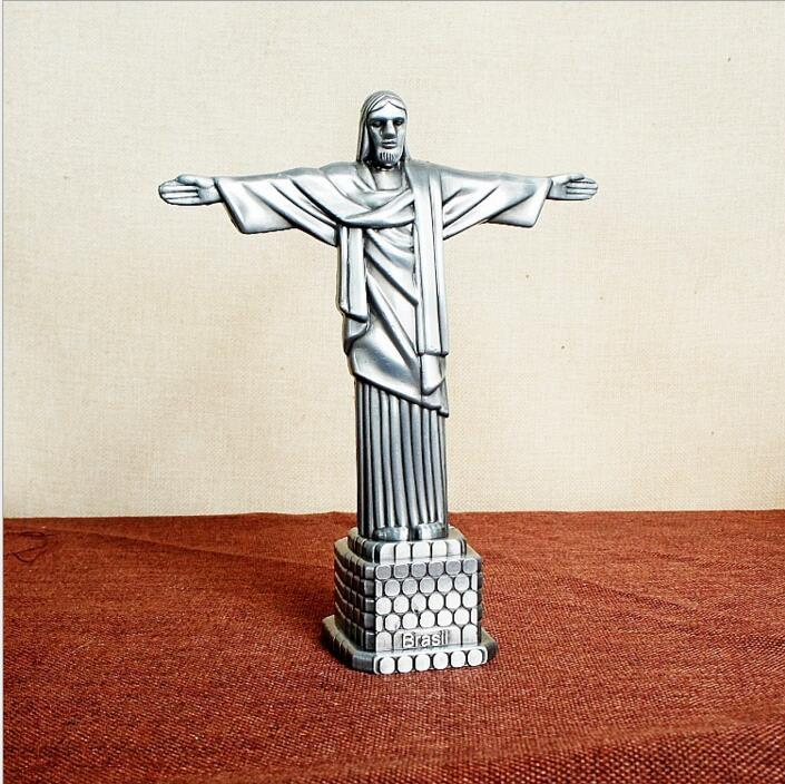 Metal crafts Christian Statue of Jesus Arts and Crafts Christian gifts Character Jesus model 17*7*21cm DHL