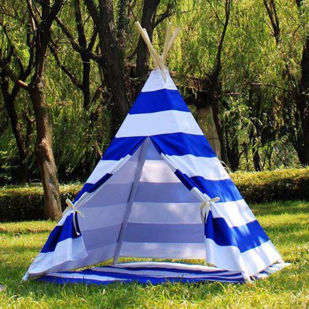 2018 New 2017 Teepee Tents C&ing Tents Kids Tent Children Canvas Tents With Pole And Play Mats Family Party Tent Outdoor Sun Shelter Tent Strip From ... & 2018 New 2017 Teepee Tents Camping Tents Kids Tent Children Canvas ...