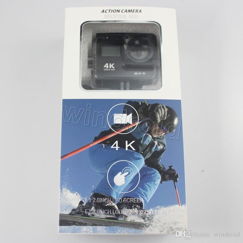 H9T Action camera + remote control Dual screen Ultra HD 4K 1080P WiFi HDMI 2 inch Touch Screen + 0.96 inch Status screen Sports camera