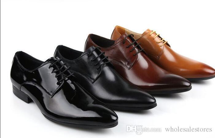 Super 2017 Fashion Classic Vintage Mens Dress Shoes Oxford Black Brown  YM22