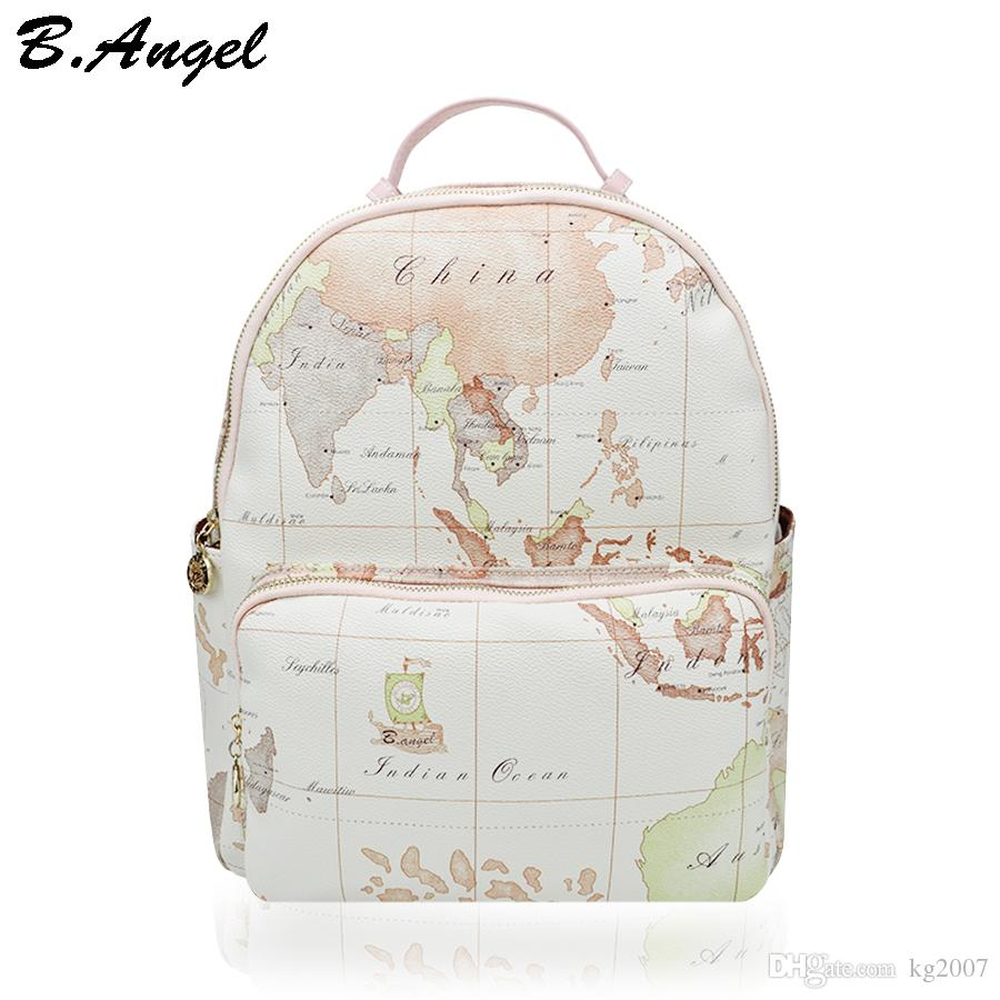 Designer backpack women high quality world map backpack women small designer backpack women high quality world map backpack women small fashion leather women bag travel backpack vintage white bags cheap backpacks rolling gumiabroncs Images