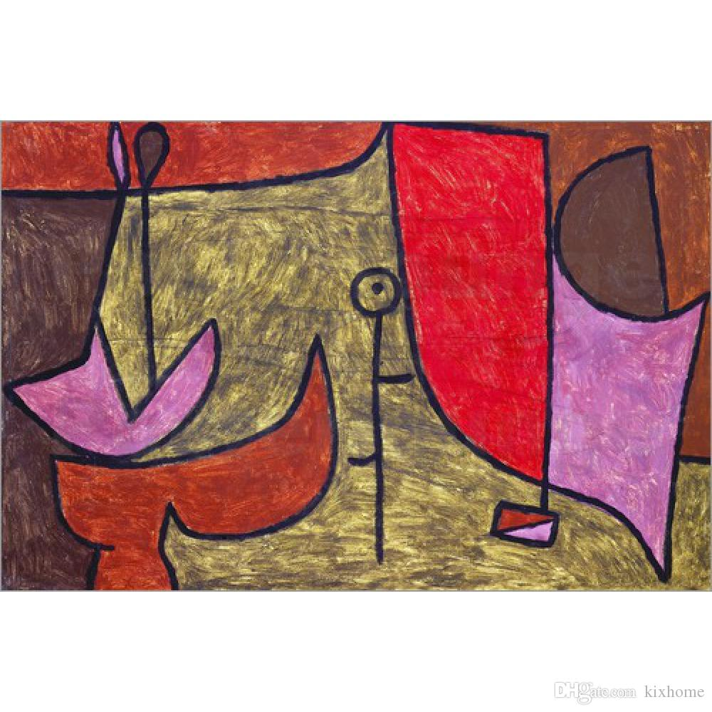 2018 Handmade Oil Painting Paul Klee Still Life Leap Day Abstract