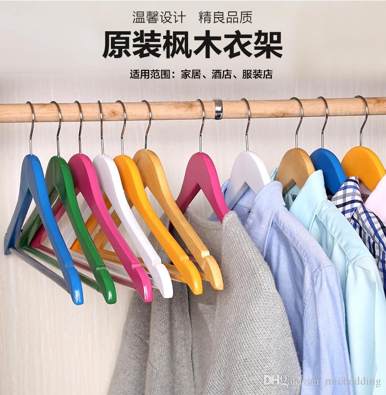 household wooden hangers clothing store wood clothes racks adult solid wood wholesale dress chest hang hanger supports set from micbedding