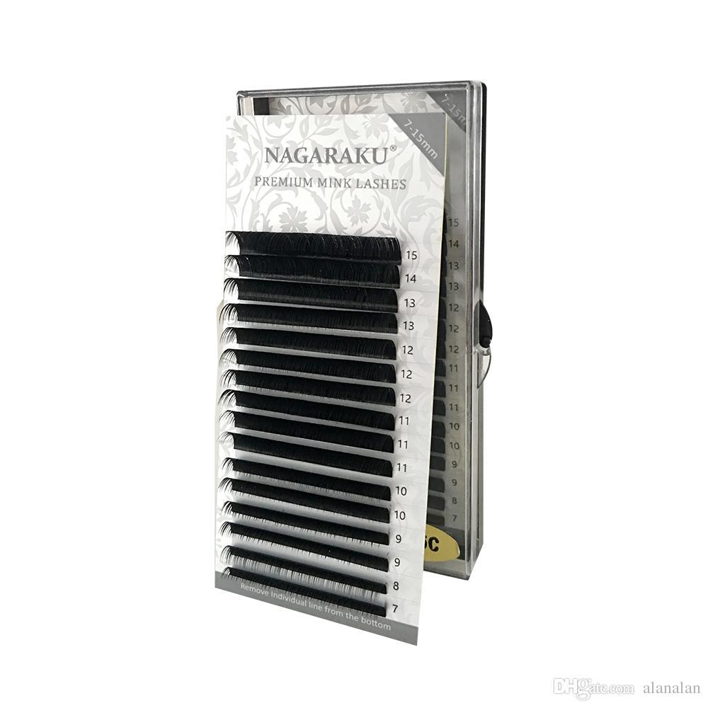 dbd8f436b9a NAGARAKU 7~15mm MIX 16rows/Case Naturally Artificial Mink Eyelash Extension  Grow Eyelashes Individual Eyelash Extensions From Alanalan, $4.07|  DHgate.Com