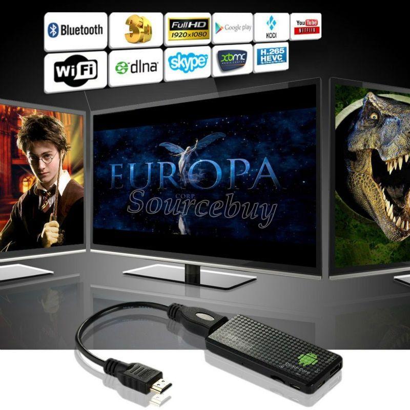 The newest! Android 4.4 Mini PC Quad core RK3128 Google TV Stick MK809IV 1GB RAM 8GB ROM Bluetooth Wifi HDMI TV Dongle