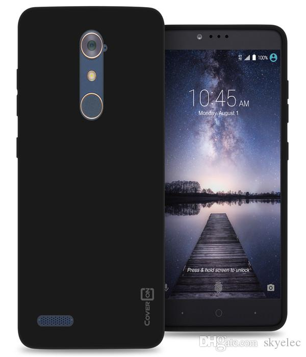 Black Case For ZTE ZMax Pro Carry Flexible Shockproof Slim Rubber TPU Cover Mobile Phone Shell Universal Rugged Cell Phone Case Mobile Shell
