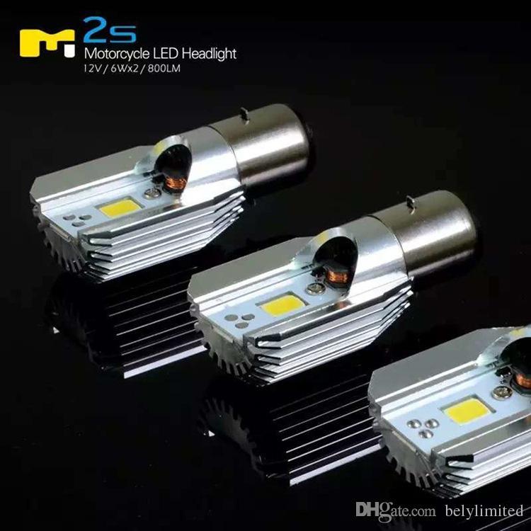 M2S H4 llevó los bulbos de la linterna de la motocicleta 6 ~ 36V 6W 800LM accesorios de la moto llevó los bulbos de la iluminación llevó la motocicleta 6v luz 6500k