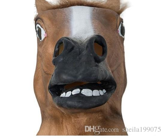2016 Sale Rushed Christmas Darth Vader Helmet Latex Mask Horse Head Mask Creepy Cosplay Halloween Costume Theater Prop Novelty Latex Rubber