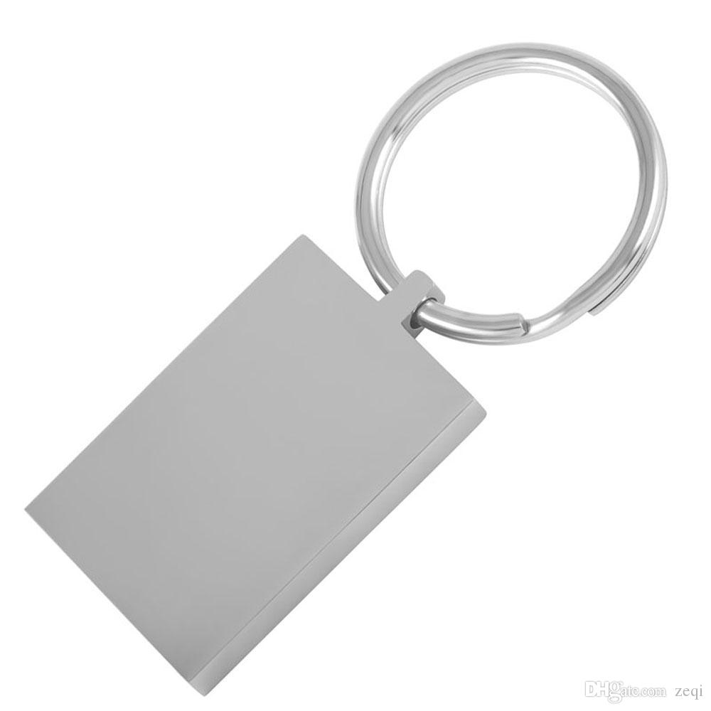 2019 five pieces stainless steel key chain blank engravable key ring