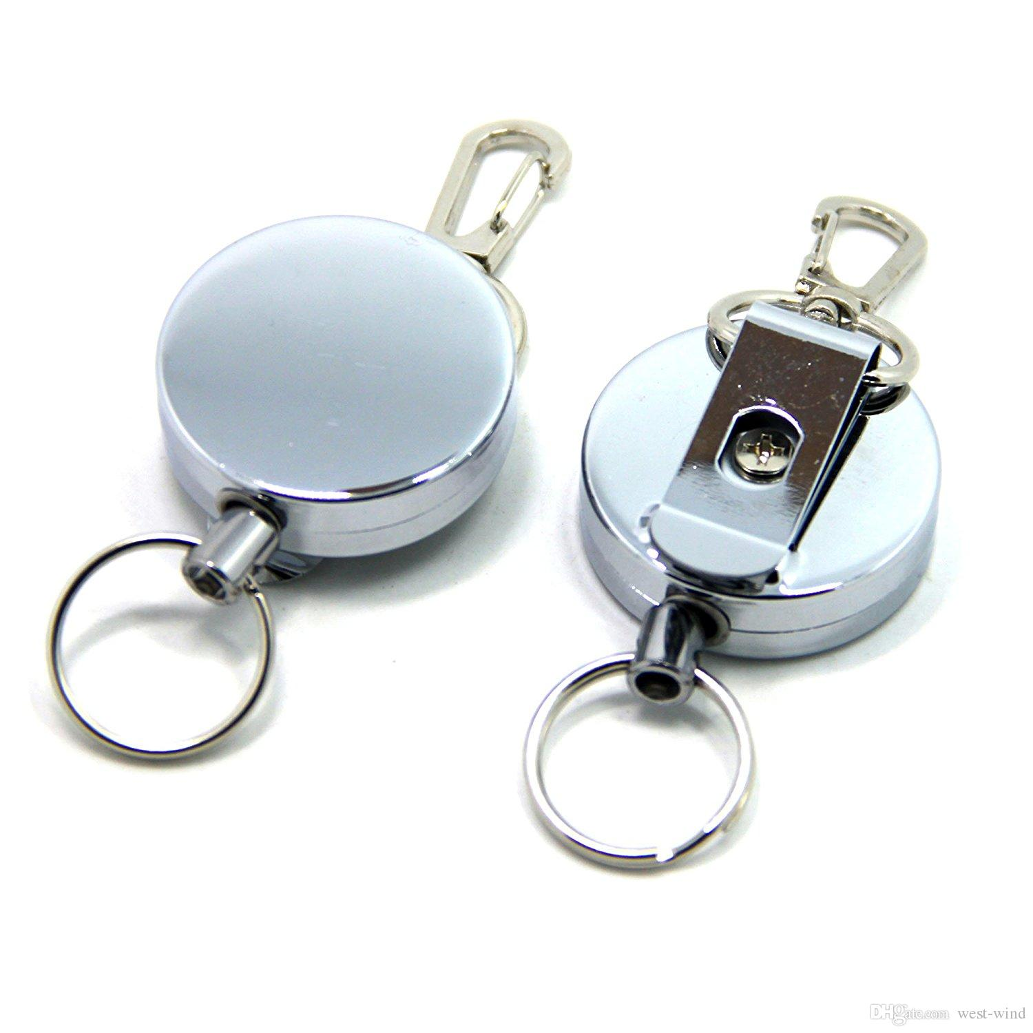 Metal Easy Pull Retractable Wire Rope Key Ring Anti Theft Anti Theft ...