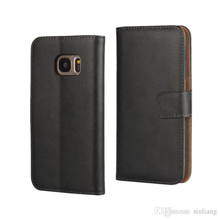 Genuine Leather Wallet Case For Samsung Galaxy S6