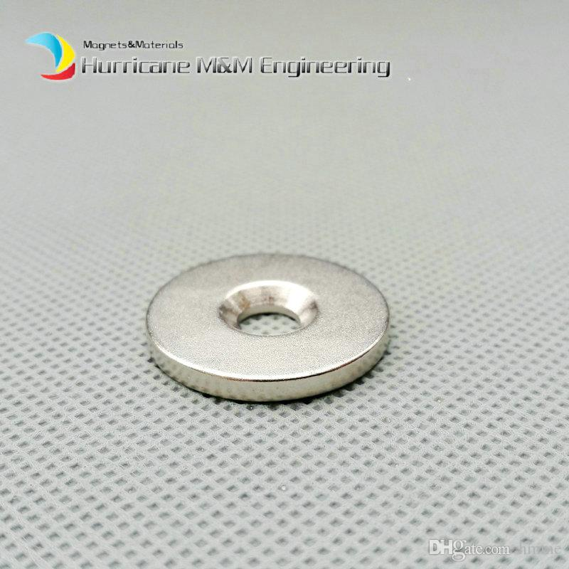 Countersunk Hole Magnet about Diameter 25x3mm Thick M5 Screw Countersunk Hole Neodymium Rare Earth Permanent Magnet