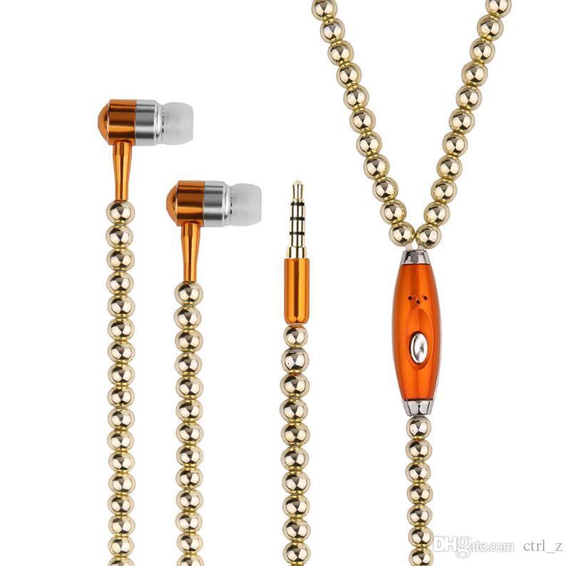 Diamant de luxe écouteur Crystal Pearl In-Ear Écouteurs Bling Stéréo Subwoofer Avec Micro Pour iPhone 7 6 6S Plus Samsung Microphone