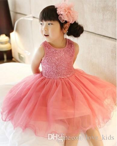 High Quality Baby Girl Dress Lace Vest Dress for Girl Infant Princess Birthday Party Wedding Dresses For Baby Girl Chirstening 6 colors
