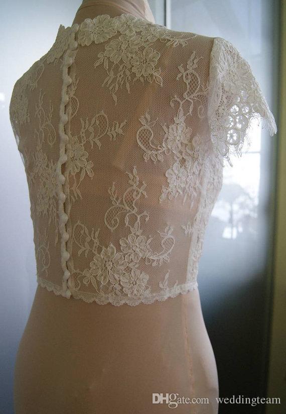 Свадебные шали из слоновой кости с рукавами с V-образным вырезом и V-образным вырезом для невесты