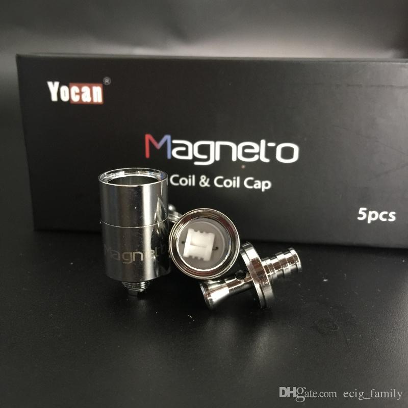 100% оригинальный Yocan Магнето замена катушки глава керамическая восковая катушка с магнитной катушкой крышки и Dab инструмент Бесплатная доставка