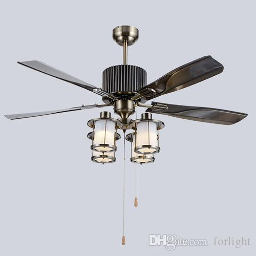 2018 retro european american style led ceiling fans lights 52 inches 2018 retro european american style led ceiling fans lights 52 inches 132 cm 4 iron blades leaves mute energy saving led ceiling fan light from forlight aloadofball Image collections