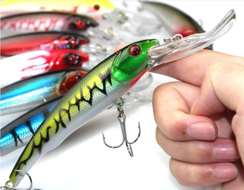 Big Game 16.5cm 29g Fishing Lure Long Lip Minnow Baits with Two Hooks or Artificial Plastic Hard Baits for Saltwater