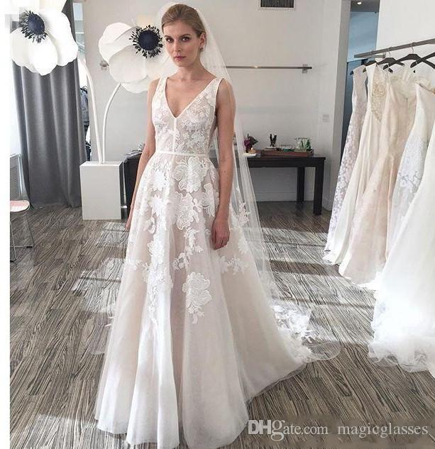 Simple Wedding Dress 2017 Bridal Gown Sexy Backless: Discount Simply Style 2017 Backless Plus Size Wedding