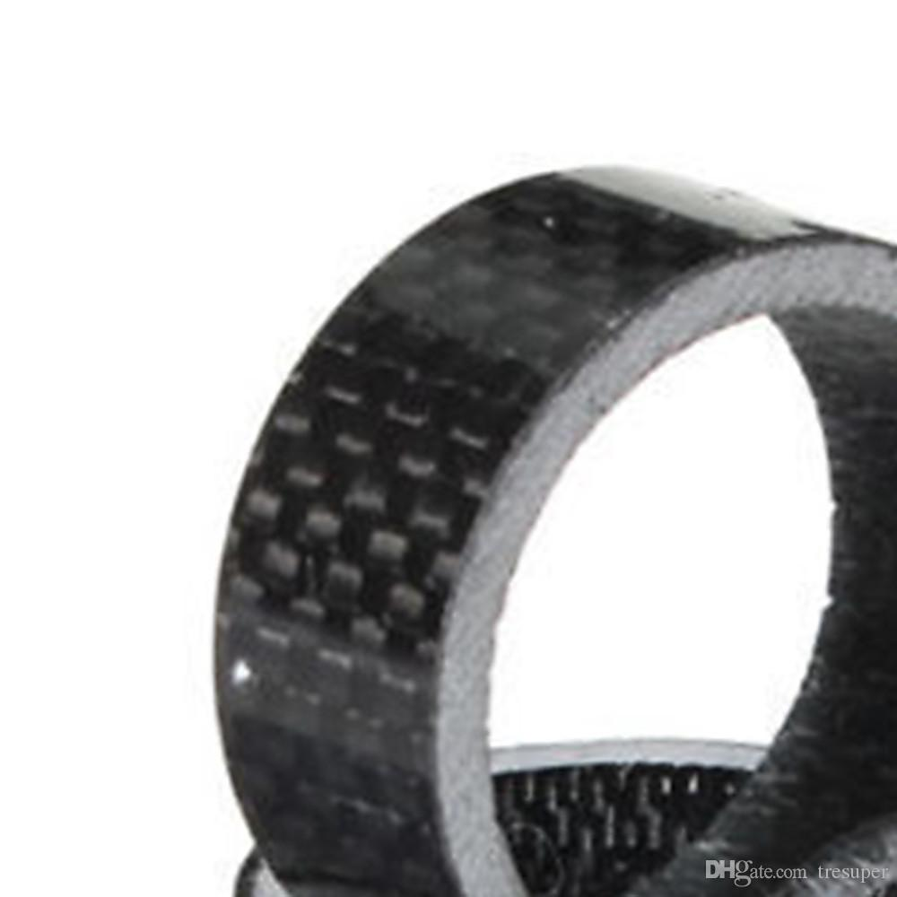 MTB Mountain Bike 5 10 15 20mm Carbon Fibre Front Fork Bowl Series Headset Washer Road Bicycle Headparts Backup Ring