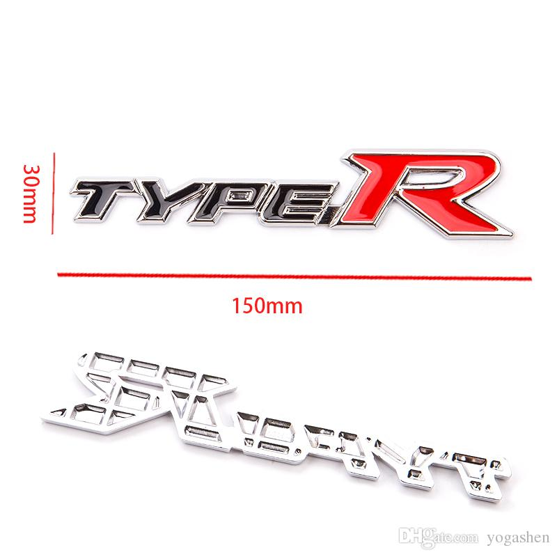 car styling 3D Sports TYPE R M power 2.0T 2.2T 2.4T 2.8T Word Letter Chrome Metal Car Sticker cover Emblem Badge Decal for bmw vw