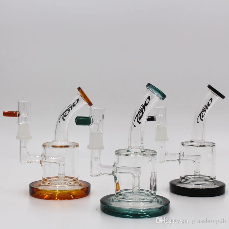 black toro glass oil rig bong with quartz banger water pipes 5mm thick bubbler dab rig