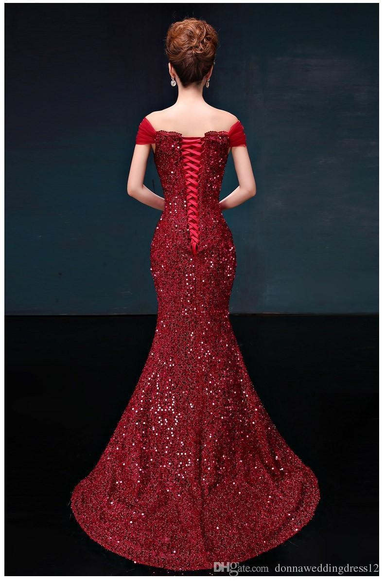 신품 도착 Vestido de Festa bling 이브닝 드레스 멋진 스팽글 이브닝 드레스 스쿠프 레이스 업 파티 드레스 2017 무료 배송