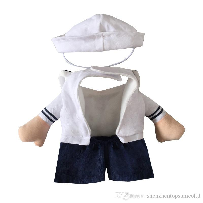 New Hot Sale Cats outfit Sailor small Dogs Puppy pet Costume Clothes funny suit Sailor Uniform Cosplay Costumes Cat supplies