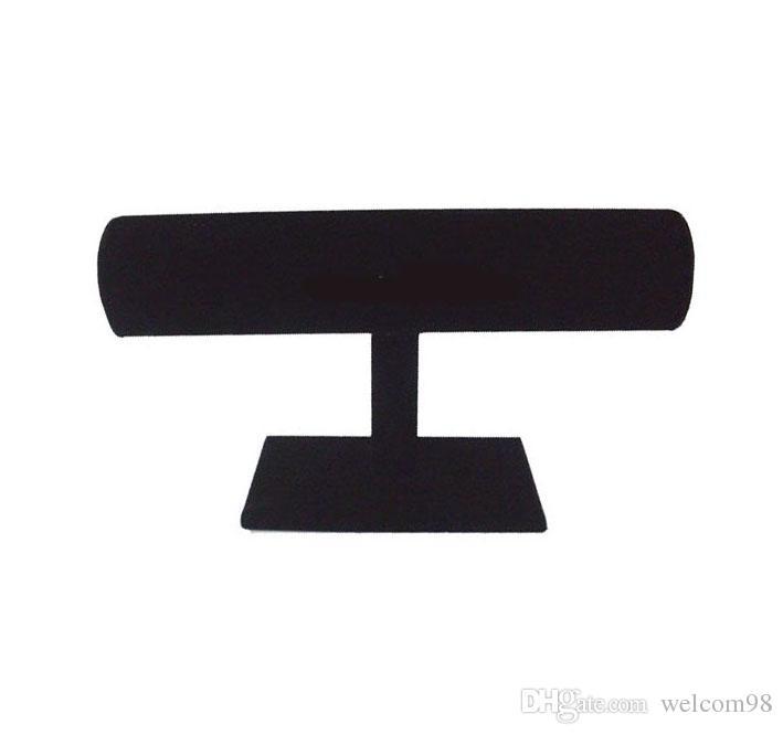 T-Bar Black Velvet Watch Bracelet Jewelry Display Stand Holder Rack For Jewelry DS1*