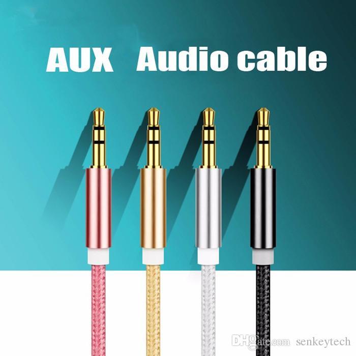 جودة عالية 3.5 ملم جاك Aux كابل ذكر إلى ذكر كابل محول الصوت 3.5 مم الحبل المساعد لسماعة رأس MP3 MP4 سيارة الكلام