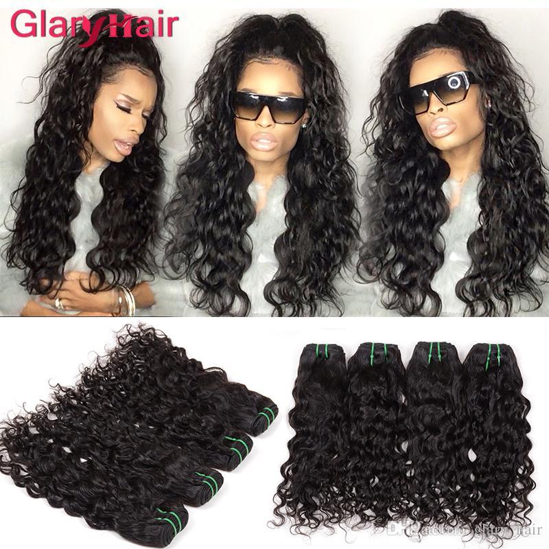 Brazilian Water Wave Hair Bundles Natural Wave Weave Hairstyles Malaysian  Curly Remy Human Hair Extensions Big Curly Weave Weft 30day Return Human  Hair ... d77c3dd4ee25