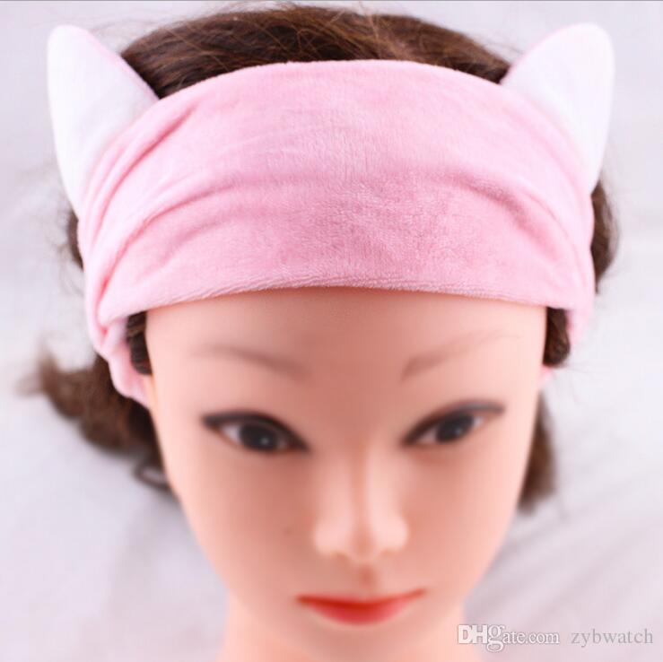 6 couleur lavage bain maquillage coréen bandeau doux cool été bandeau cheveux masque kit hotte