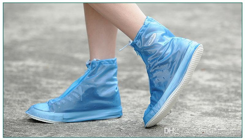 High Quality Environmental Reused Waterproof PVC outdoor Lady Shoe Cover Dustproof Overshoes For Rain Day Carpet Cleaning