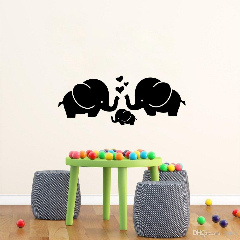 Cute Elephant Hearts Family Wall Decals For Baby Room Decor Kids Room Wall  Stickers Customized Wall Decals Damask Wall Decals From Flylife, $4.53|  Dhgate.