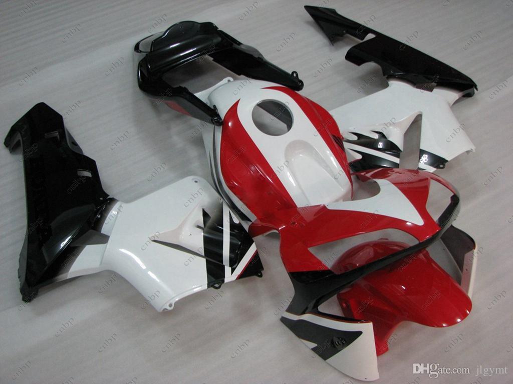 Body Kits Cbr 600 Rr 03 Plastic Fairings For Honda Cbr600rr 2003 Headlight T Shirt White Red Black Abs Fairing Cbr600 04 2004 Motorcycle Front