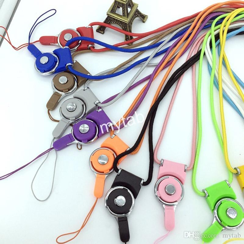 Detachable Long Lanyard Neck Strap Rotatable Mobile Phone Strap Hand Wrist String With Ring For Cell Phone iPhone Samsung
