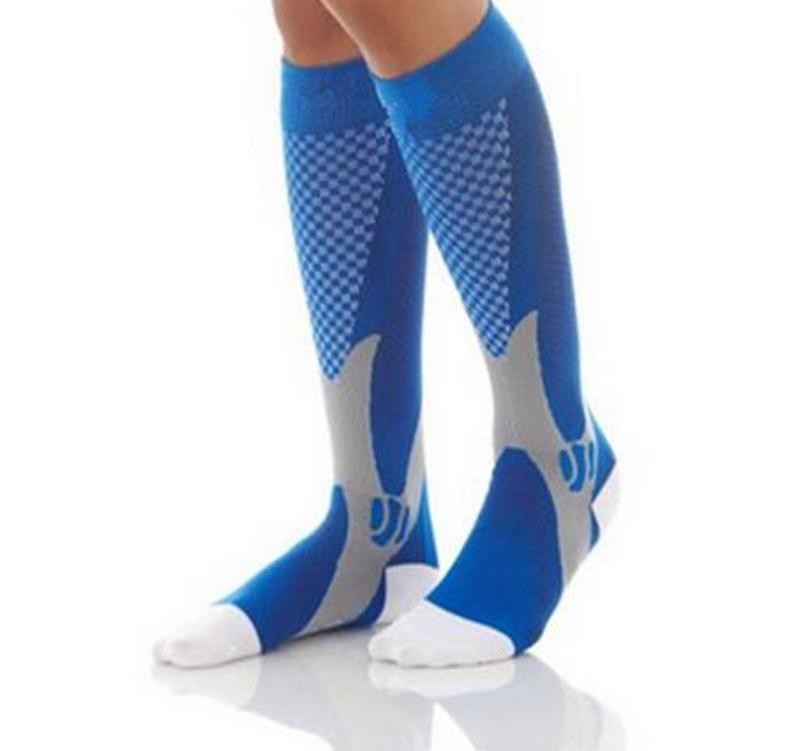 3 Size /  Breathable Outdoor Sports Ball Games Cycling Stretch Socks Leg Support Compression Socks Stocking For Men Women