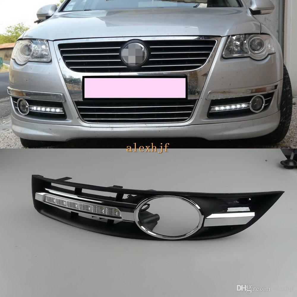 Passat Replacement1 Led Lamp Shipping Drl Volkswagen 2006~2011 Running Daytime SetFast Light Cover B6 With For Magotan Fog rBCoeQWdx