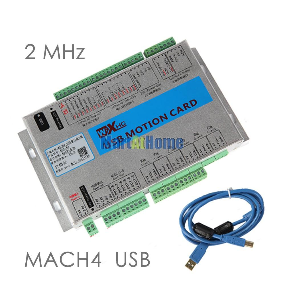 USB 2MHz Mach4 CNC 4 Axis Motion Control Card Breakout Board MK4-M4 for  Machine Centre, CNC Engraving Machine #SM781 @SD