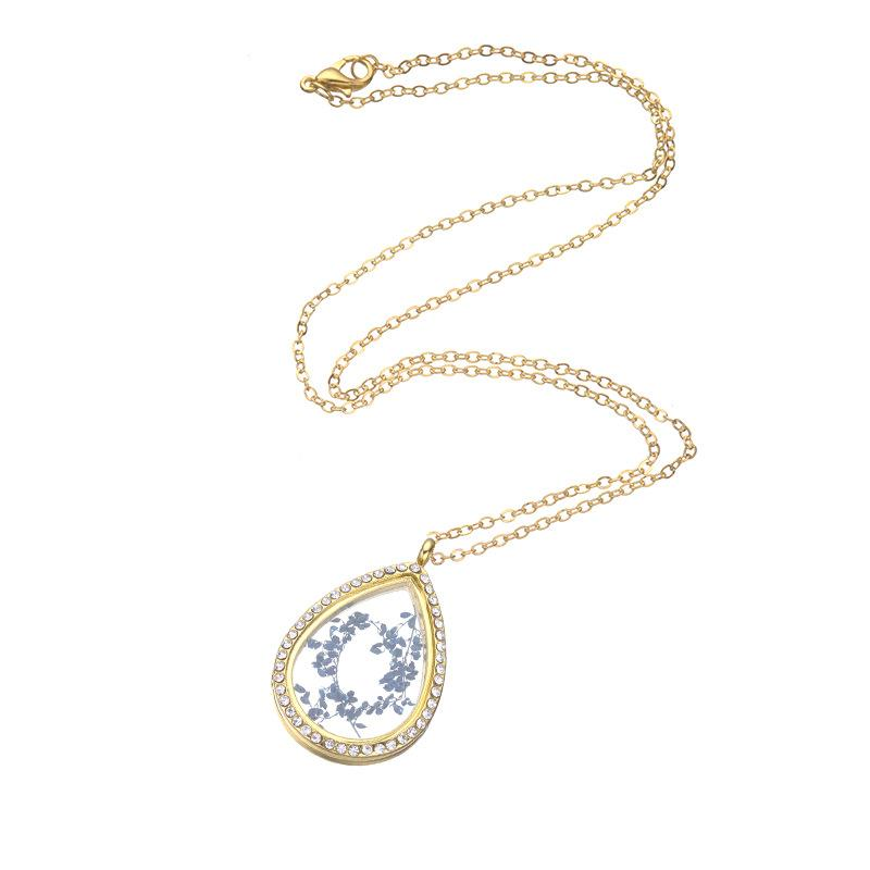 es del corazón flotante Locket colgante collar de las mujeres de la vida magnética de cristal flotante Charm Locket cadenas DIY collares 161936