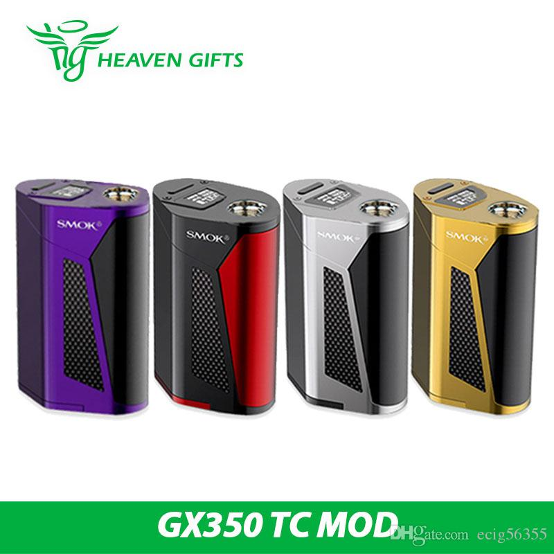 smok gx350 tc box mod 350w within 4x 18650 220w within 2x 18650 fit tfv8 tank as power bank. Black Bedroom Furniture Sets. Home Design Ideas