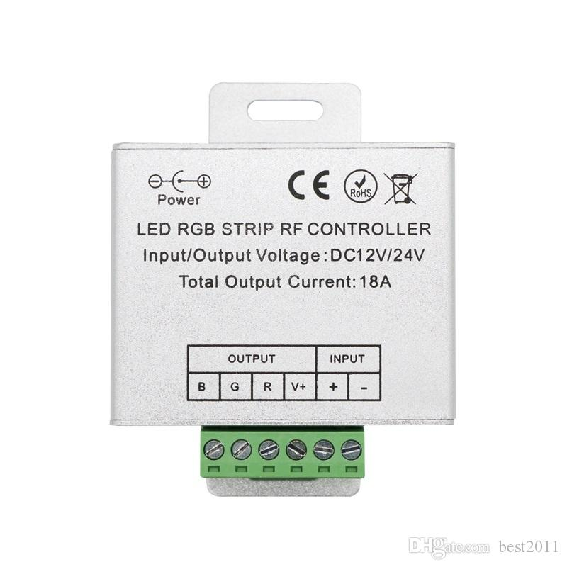 Hot Wireless RF Touch Dimmer Remote RGB Controller DC 12V-24V 18A RF remote control for 3528 RGB LED Strip Light 5050 diode tape