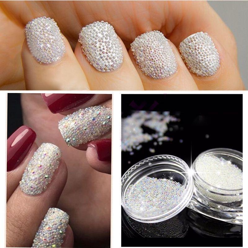 Dropshipping Transparent Glitter Nail Art Beads Nail Art Decoration ...