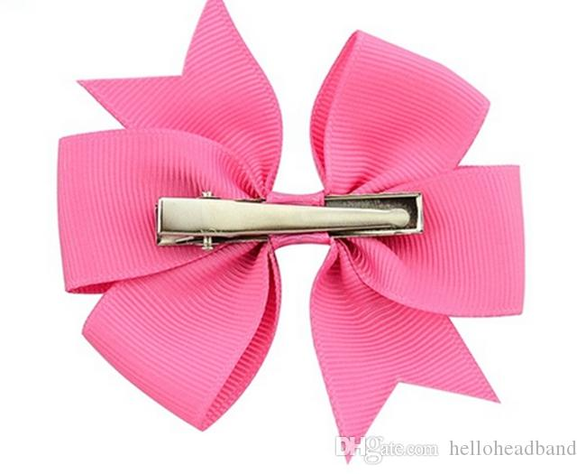 fancy grosgrain ribbons hair bows with clips kids hair accessories